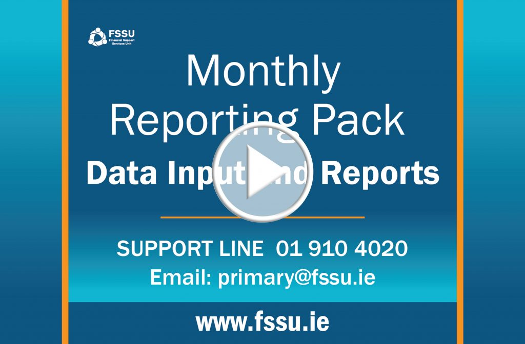 monthly reporting template fssu